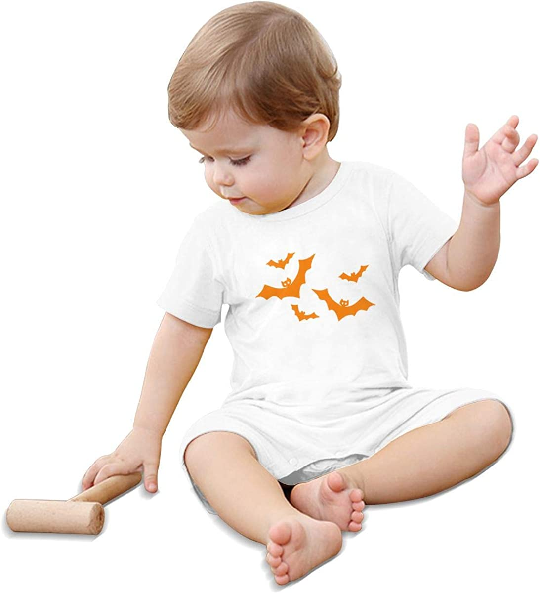 Mri-le1 Newborn Kids Short Sleeve Jumpsuit Bats Halloween Infant Short Sleeve Romper Jumpsuit