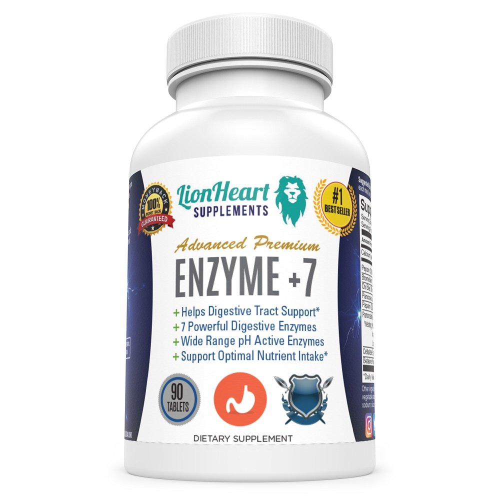 Best Digestive ENZYMES Supplement - Purified OX Bile Salts - Tablets for No Gallbladder - Enzyme for Digestion Relief Women & Men - Help Bloating, Controls IBS, Acid Reflux & Constipation