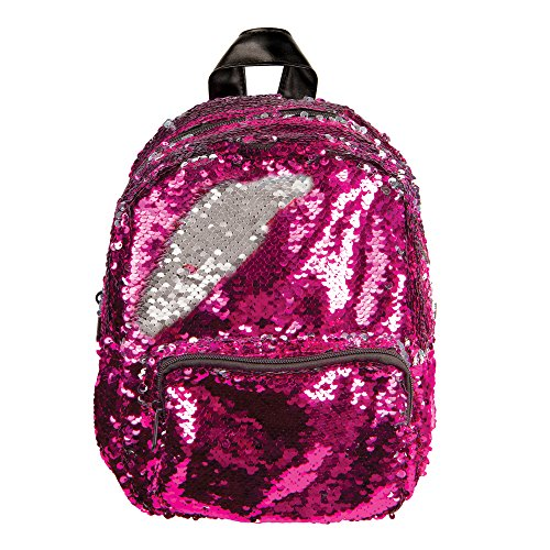Style.Lab Magic Sequin! Reversible Pink to Silver Mini Backpack, Multicolor