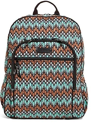Fashionable Vera Bradley Campus Backpack in Sierra Stream Inside Out Pattern