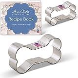 Ann Clark Dog Bone Cookie Cutter Set - 2 Piece - 2 & 3 3/4 - Tin Plated Steel