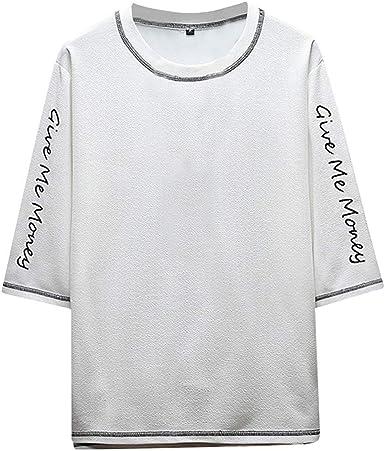 Camisetas Hombre Manga Corta La Camisa Basicas Algodon Blusa 2019 Verano Nuevo Tops Deportivas Gym Running Polo T-Shirt ZOELOVE Casual Japoneses Camiseta de Manga Corta con Estampado: Amazon.es: Ropa y accesorios