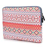 Coodio® ShockProof 35.8 cm (14 inch) Ultrabook Laptop Notebook Pattern Sleeve Bag for Chromebook 14 - Bohemian Stripe Orange