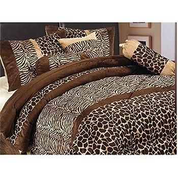 Amazon Com Grand Linen 7 Piece Safari Zebra Giraffe