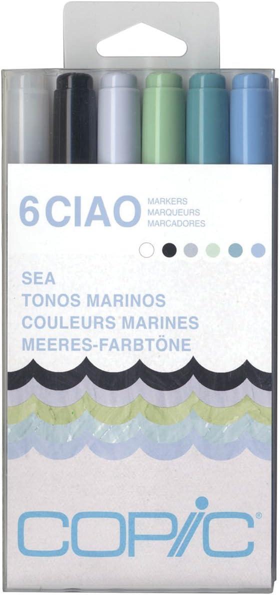 Copic marcador, marcadores Ciao, mar, pack de 6