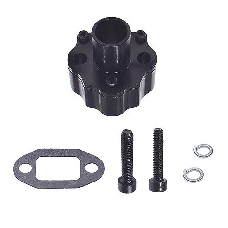 UAUS CNC 32mm Reed Valve Air Intake Manifold Fit 2 Stroke 60cc 66cc 80cc Gas Motorized Bike Bicycle Black
