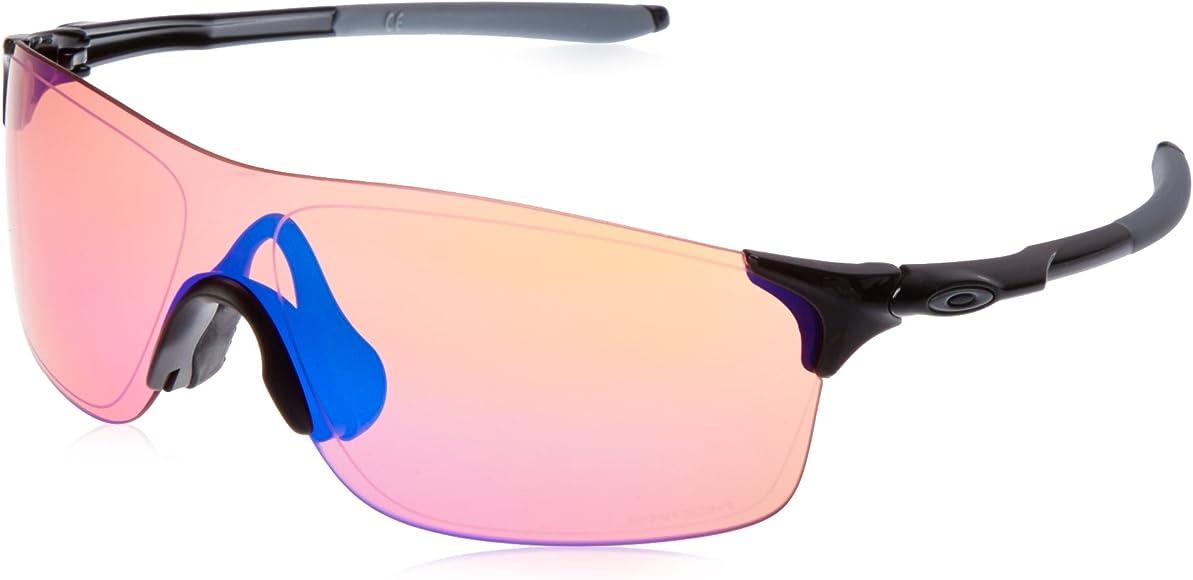 3ed3f7375e38 Oakley Men's Evzero Pitch Non-Polarized Iridium Rectangular Sunglasses, Polished  black, 38 mm