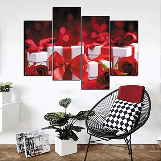 Dlfalg Inicio Art_Living Room Decoration Pintura Roja Día De San ...