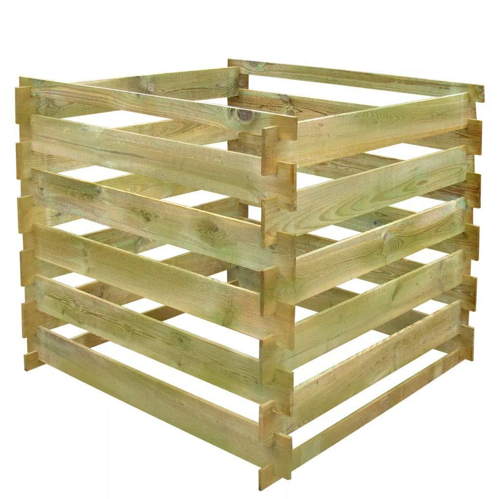Fesjoy FSC - Cubo de Basura para Compost (Madera ecológica ...