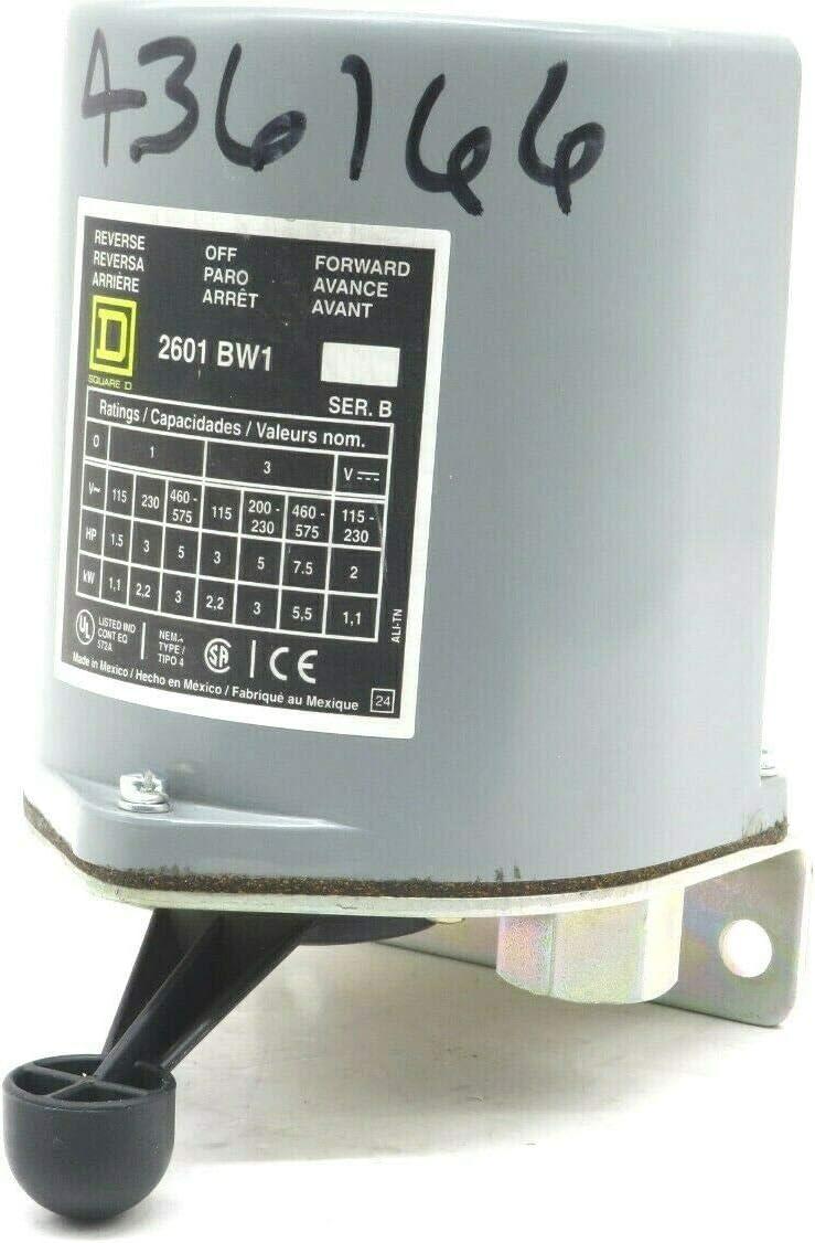 SCHNEIDER ELECTRIC 600-Vac 2 Horsepower Drum Switch Bplus Options 2601BW1 Drum Switch 600Vac 7.5Hp B