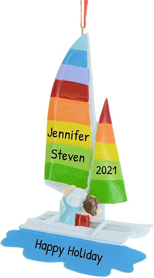 The Christmas Schooner 2020 Amazon.com: Personalized Sail Away Christmas Tree Ornament 2020