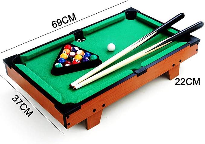 Mini mesa de futbolín, mini mesa de hockey de aire y mesa de billar mesa de billar Mesa de billar para niños 8,6 / 14,5 / 27 pulgadas Juego de billar para