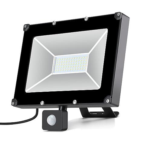 oeegoo Foco LED con detector de movimiento 50 W 5000LM LED Foco exterior Foco Luz IP65