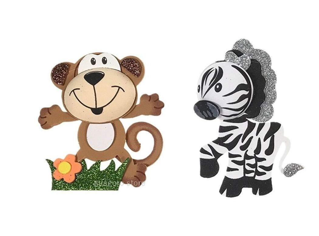 Baby Shower Safari Jungle Animals Decorations Foam Favors Girl or Boy (10, Monkey)