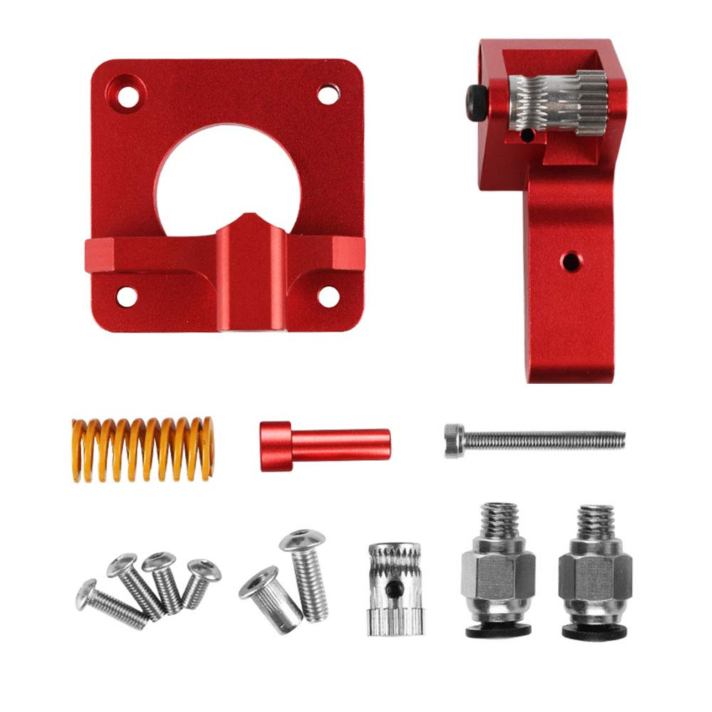 Aluminum Dual Gear Extruder Upgrade Kit for CR-10// CR-10S// CR-10S Pro//Ender 3// Tornado CHPOWER Ender 3 Dual Extrusion