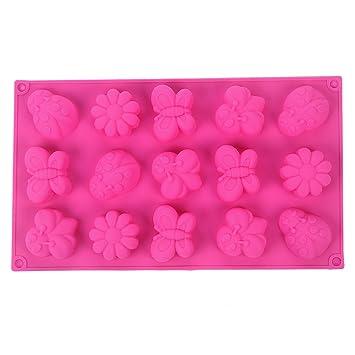 YOKIRIN® Forma del Molde de Silicona Insectos Mariposas de Accesorios para la decoración de la Torta de Chocolate Oscuro moldes azúcar Pasteles moldes de ...