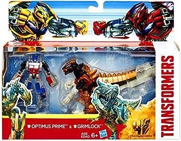 Transformers 4 Age of Extinction Figura de acción Exclusiva, Paquete de 2 Optimus Prime y Grimlock: Amazon.es: Juguetes y juegos
