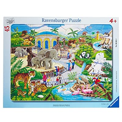 Ravensburger Visit to The Zoo 45 Piece Frame Jigsaw Puzzle for Kids – Every Piece is Unique, Pieces Fit Together Perfectly: Toys & Games