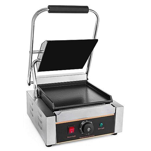 Plancha de grill profesional de 1800 W, Plancha Grill Electrica Fry Top Parrilla Electrica Industrial, 0 a 300 °C