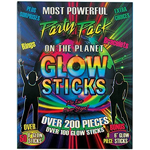 200 Pieces Glow Sticks Party Pack with Connectors  sc 1 st  Amazon.com & Glow In The Dark Party Decorations: Amazon.com