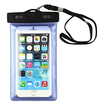 Tongshi Funda Universal Impermeable Bolsa Bolsa Para Teléfonos Celulares iPhone 6 Plus 5.5 Azul