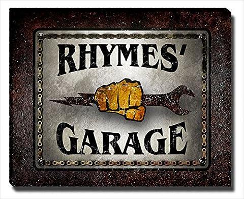 Rhymes Garage Gallery Wrapped Canvas Print (Cvs Rhymes)