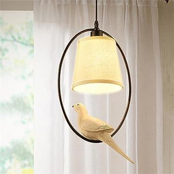 Kreativ Taube Modell Deckenleuchte, Für Birne E14 Leinen Schatten Modern  Kronleuchter Restaurant Cafe Deckenbeleuchtung Dachgeschoss