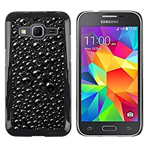 TopCaseStore / la caja del caucho duro de la cubierta de protección de la piel - Rain Raindrops Black & White Macro - Samsung Galaxy Core Prime SM-G360
