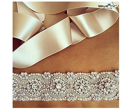 56efab89b7 Beaded Trim White,Rhinestone Applique Sash,Pearl Bridal Sash,Beaded Bridal  Belt,Bridal Gown Sash,Cream Sash, Flower Girl Prom Belt