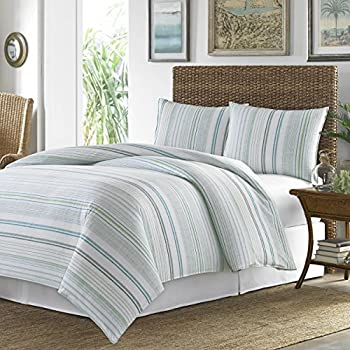 Amazon Com 6 Piece Blue Green Striped King Size Duvet
