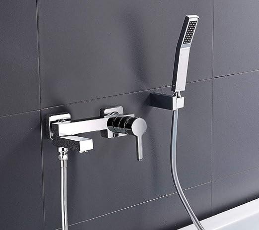 TYG Crop Shower Set Copper Shower Tap Set with Knauf Bath Mixer: Amazon.es: Bricolaje y herramientas