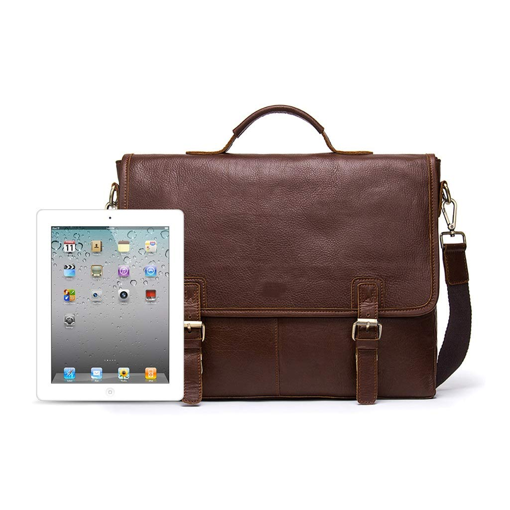 LWH) Mens Messenger Shoulder Bag Simple High Capacity IPAD Business Bag Every Day Office 11.414.727.87 Inch