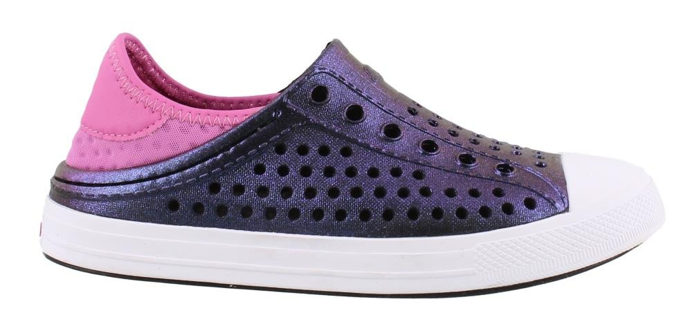 Skechers Girl's, Guzman Steps Slip on Shoes Purple HOT Pink 4 M