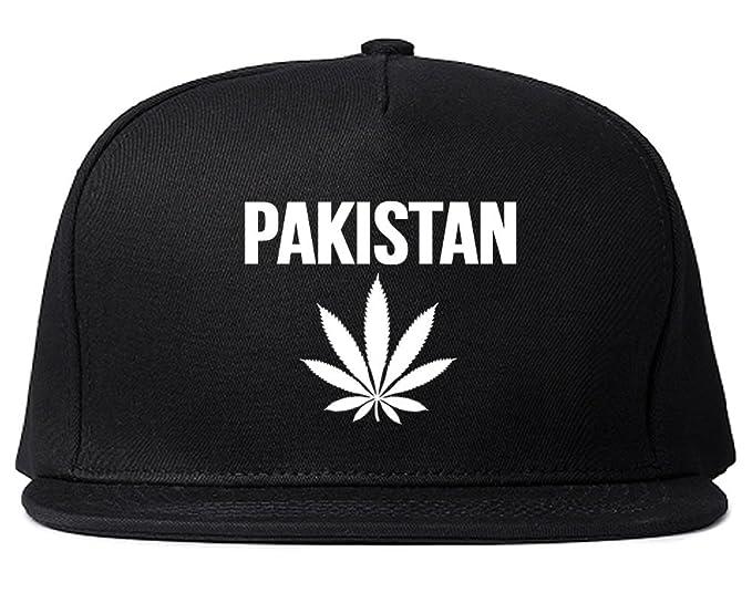 a51a00301ee Amazon.com  Country of Pakistan Weed Leaf Pot Marijuana Snapback Hat ...