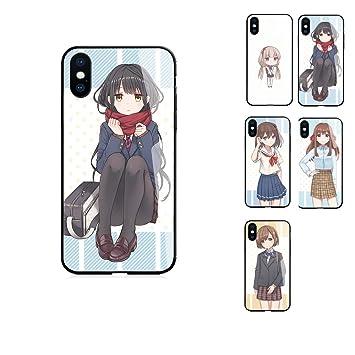 eab48b8bb4 iPhone XR 6.1 ハードケース 背面ガラス 萌え 女の子 アニメ イラスト アート 携帯 スマホ カバー ケース