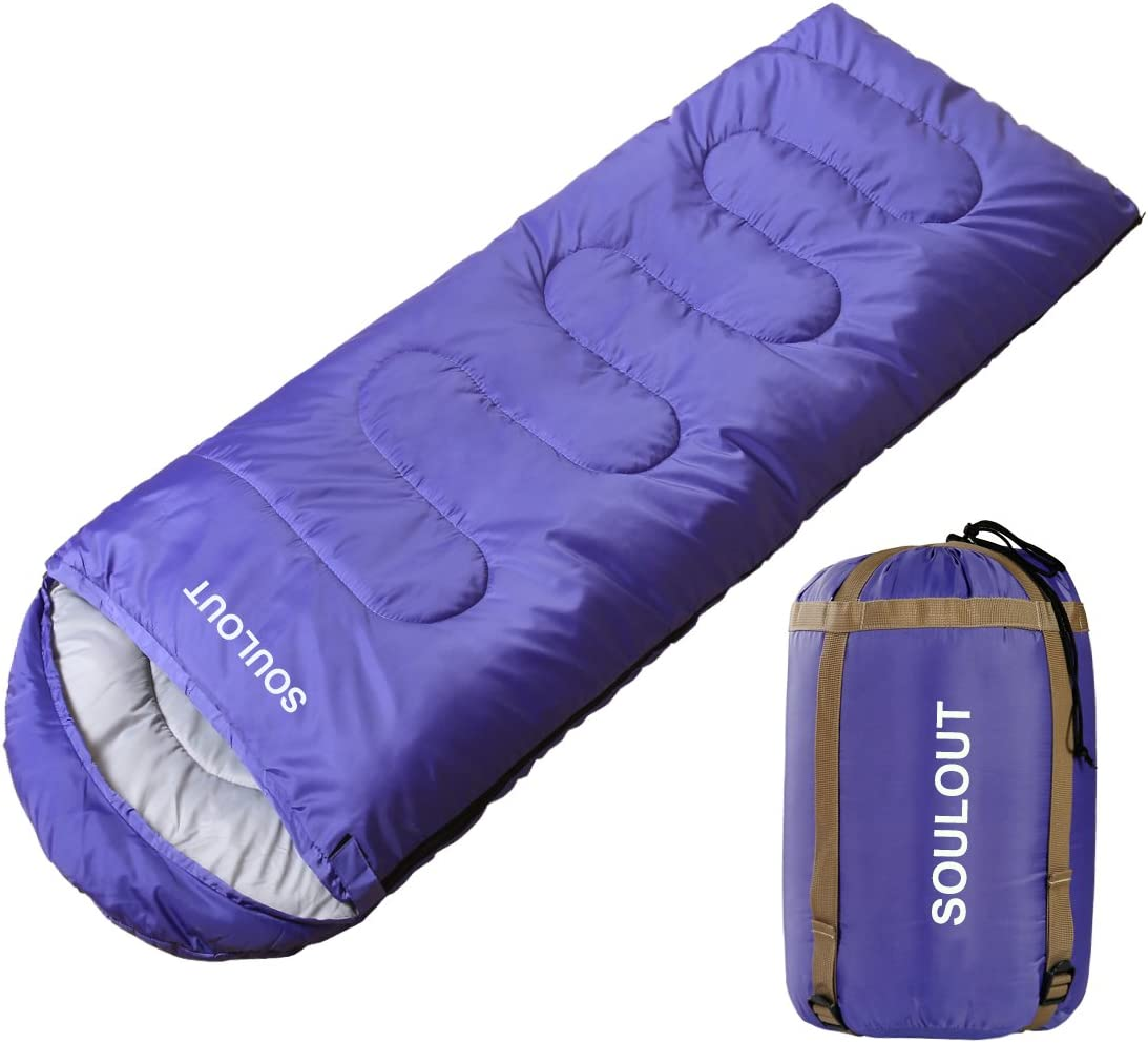 Traveling Great for Adults /& Kids Excellent Camping Gear Equipment SOULOUT Sleeping Bag 3-4 Season Warm Weather and Winter and Outdoor Activities Lightweight Waterproof