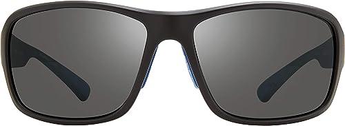 Revo Mens Polarized Sunglasses Border Wraparound Frame 66 mm