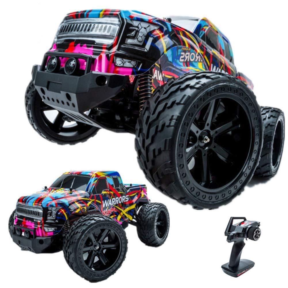BKWJ Giocattolo per Auto da Arrampicata Fuoristrada ad Alta velocità a Distanza. Modello di Controllo remoto di Ricarica per Auto a trazione Integrale Big 1 10
