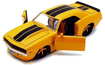 Amazon Com 1969 Chevy Camaro Yellow Jada Toys Bigtime Muscle