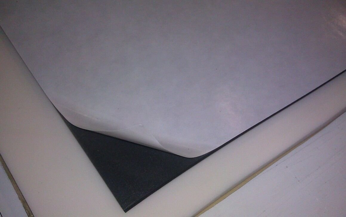 "Amazon.com: 12""x12"" Negro Goma de silicona hoja ..."