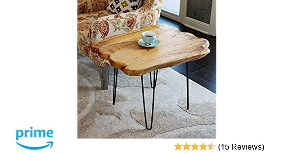 2b5c844e7a755 Amazon.com  WELLAND Natural Edge Coffee Table Small
