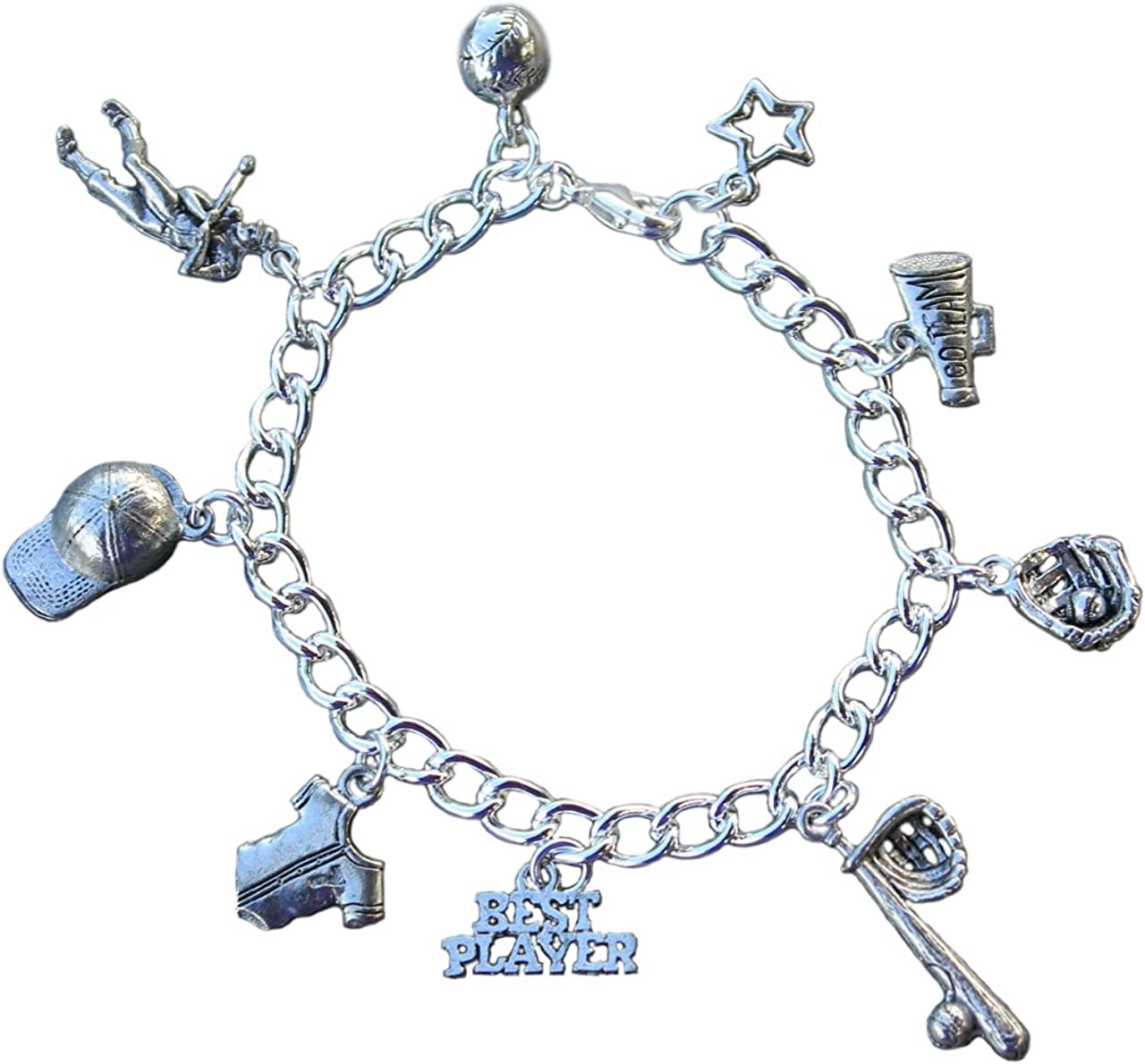 Baseball Bat Charm Charms for Bracelets and Necklaces