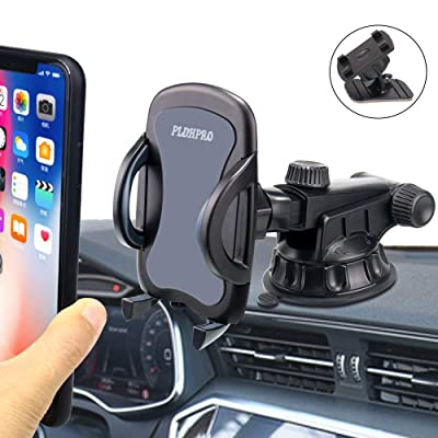 "Car Phone Holder, PLDHPRO 2-in-1 Dashboard/Windshield/Dash/Stick On Car Suction Cup Mount with Telescopic Extension Rod,for iPhone Samsung Sony Google All 4""- 6.4"" Smartphones: Beauty"