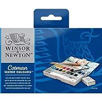 Cotman Winsor & Newton Water Colour Paints Deluxe 16 Half Pans Sketchers' Pocket Box