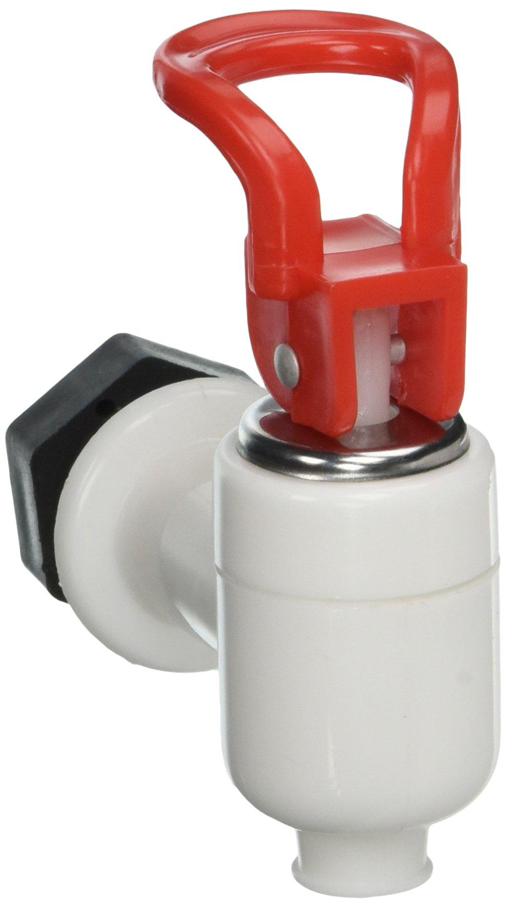Uxcell Plastic Cooler Valve Spigot Water Dispenser Tap, White Red, White Red