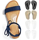 Gel Arch Support Cushions for Men & Women, Shoe Insoles for Flat Feet, Reusable Arch Inserts for Plantar Fasciitis, Adhesive Arch Pad for Relieve Pressure and Feet Pain- 4 Pairs (3 Colors)