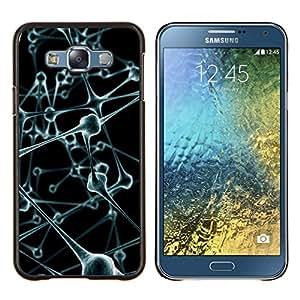 GIFT CHOICE / Teléfono Estuche protector Duro Cáscara Funda Cubierta Caso / Hard Case for Samsung Galaxy E7 E700 // Molecules Anatomy Human Body Art Modern //