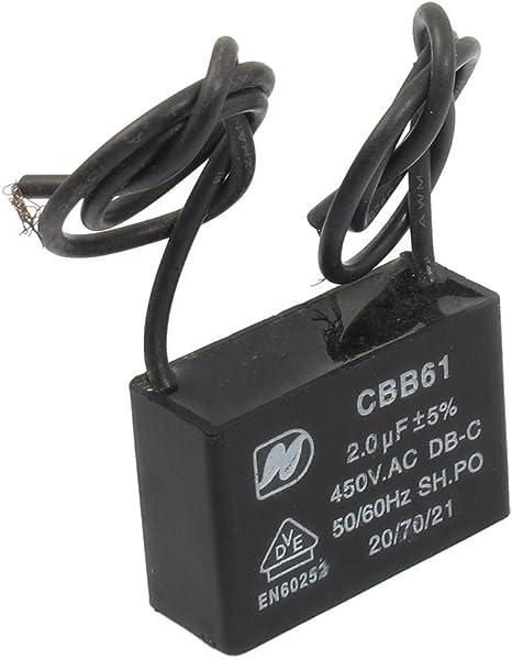 CBB61 AC 450 V 2uF Aire Acondicionado Ventilador eléctrico ...