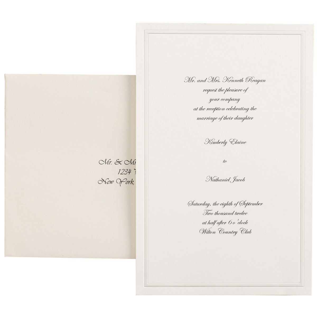 Amazon.com: Wilton 100-Pack Single Border Invitation, Ivory: Kitchen ...