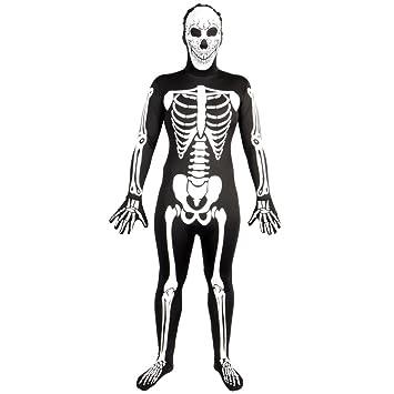 Wicked - Disfraz de lycra con diseño de esqueleto fluorescente ...
